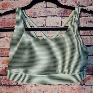 Lululemon Mint green And gray strappy 6 bra